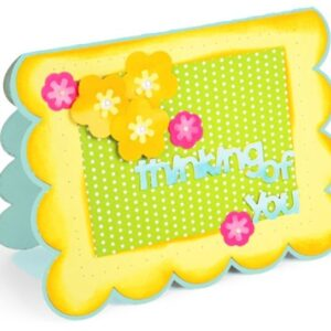 Framelits Die Set 22PK - Card, Scallop w/Flowers & Sentiments Drop-ins by Stephanie Barnard - P