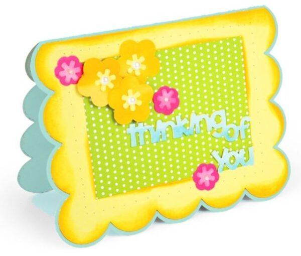 Framelits Die Set 22PK - Card, Scallop w/Flowers & Sentiments Drop-ins by Stephanie Barnard - P