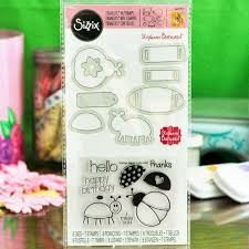 Framelits Die Set 8PK w/Stamps - Bugs by Stephanie Barnard - P