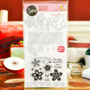 Framelits Die Set 15PK w/Stamps - Flowers & Fence by Stephanie Barnard - P