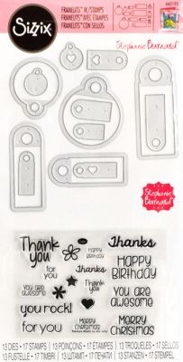Framelits Die Set 13PK w/Stamps - Tags & Words by Stephanie Barnard - P