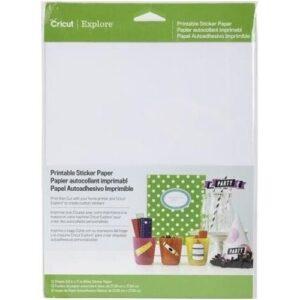 CRICUT PRINTABLE STICKER PAPER 8.5X12 - P