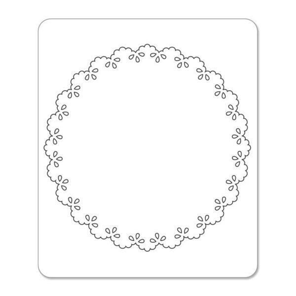 Sizzlits Die - Card, Scallop Circle Insert by Dena Designs - P