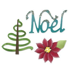 Sizzlits Die Set 3PK - Noel Set by Karen Burniston - P