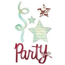 Sizzlits Die Set 3PK - Party Set 2 by Karen Burniston - P