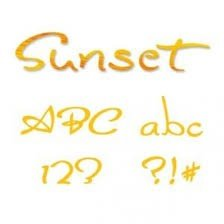 Sizzix Sizzlits Alphabet Set 35 Dies - Sunset by Stu Kilgour - P