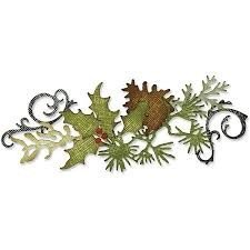 Sizzix Sizzlits Decorative Strip Die - Festive Greenery by Tim Holtz - P