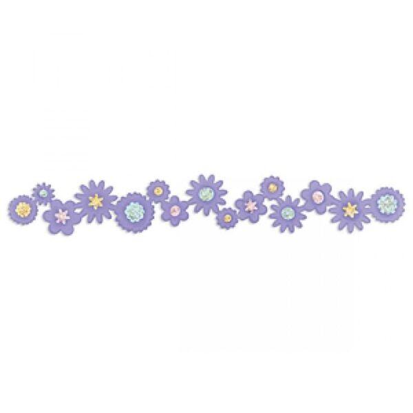 Sizzix Sizzlits Decorative Strip Die - Flower Bouquet by Scrappy Cat - P