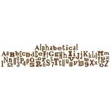Sizzlits Decorative Strip Alphabet Die - Alphabetical by Tim Holtz - P