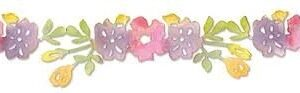Sizzlits Decorative Strip Die - Flower Vine 2 by Scrappy Cat - P