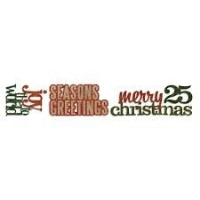 Sizzlits Decorative Strip Die - Stacked Words: Christmas by Tim Holtz - P