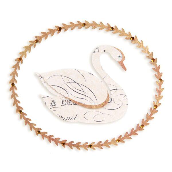 Sizzlits Die - Swan & Leafy Frame by Brenda Walton - P
