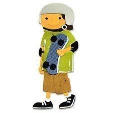 Sizzlits Med - Boy w/Skateboard - P
