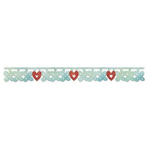 Sizzix Sizzlits Decorative Strip Die - Flower & Heart Charms by Scrappy Cat - P