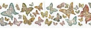 Sizzlits Decorative Strip Die - Butterfly Frenzy by Tim Holtz - P
