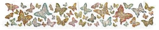 Sizzlits Decorative Strip Die - Butterfly Frenzy by Tim Holtz - P