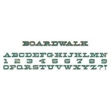 Sizzlits Decorative Strip Alphabet Die - Boardwalk by Tim Holtz - P