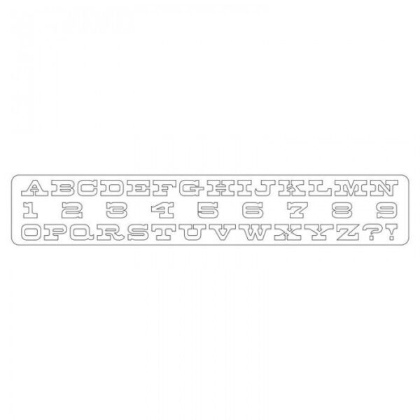 Sizzlits Decorative Strip Alphabet Die - Boardwalk by Tim Holtz - P