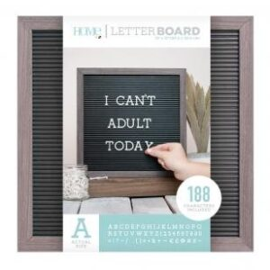Letter Boards - DCWV - Silver Walnut Frame with Black - 12x12 (191 Piece) - P