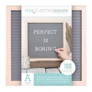 Letter Boards - DCWV - Oak Frame with Gray - 12x12 (191 Piece) - P