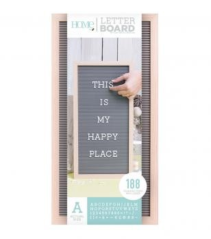 Letter Boards - DCWV - Oak Frame with Gray - 10x20 (191 Piece) - P