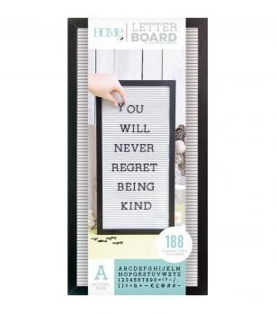 Letter Boards - DCWV - Black Frame with White - 10x20 (191 Piece) - P