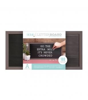 Letter Boards - DCWV - Silver Walnut Frame with Black - 20x10 (191 Piece) - P