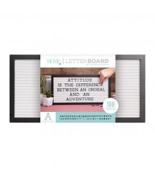 Letter Boards - DCWV - Black Frame with White - 20x10 (191 Piece) - P