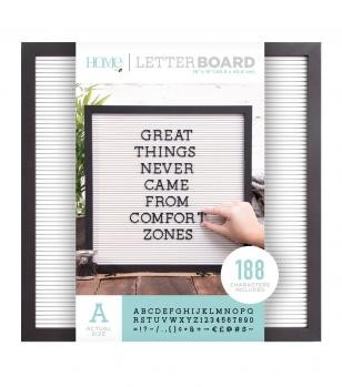 Letter Boards - DCWV - Black Frame with White - 16x16 (191 Piece) - P