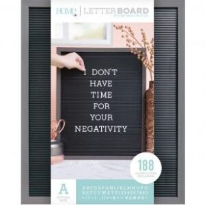 Letter Boards - DCWV - Silver Walnut Frame with Black - 16x20 (191 Piece) - P