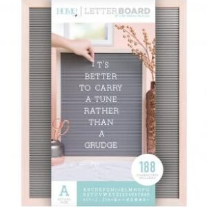Letter Boards - DCWV - Oak Frame with Gray - 16x20 (191 Piece) - P