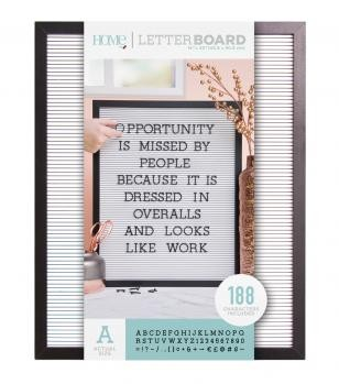 Letter Boards - DCWV - Black Frame with White - 16x20 (191 Piece) - P