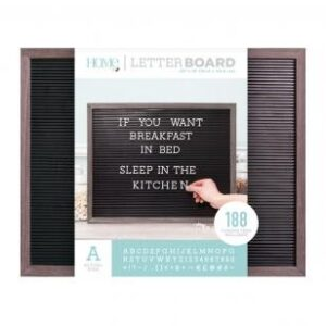 Letter Boards - DCWV - Silver Walnut Frame with Black - 20x16 (191 Piece) - P