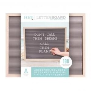 Letter Boards - DCWV - Oak Frame with Gray - 20x16 (191 Piece) - P