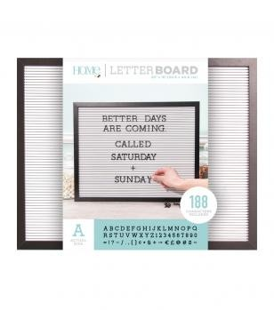 Letter Boards - DCWV - Black Frame with White - 20x16 (191 Piece) - P