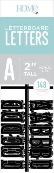 Letter Packs - DCWV - Letterboard - 2 Inch - Black (148 Piece) - P