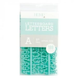 Letter Packs - DCWV - Letter Board - 1 Inch - Teal (188 Piece) - P