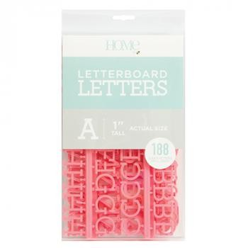 Letter Packs - DCWV - Letter Board - 1 Inch - Pink (188 Piece) - P