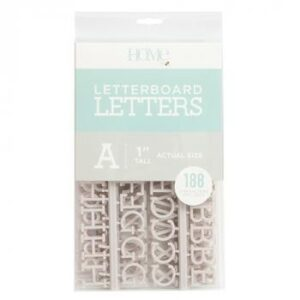 Letter Packs - DCWV - Letter Board - 1 Inch - Gray (188 Piece) - P