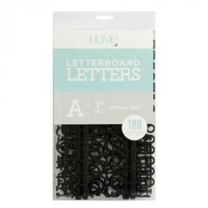 Letter Packs - DCWV - Letter Board - 1 Inch - Black (188 Piece) - P