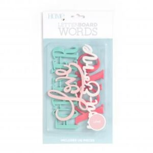 Word Packs - DCWV - Letter Board - Love (4 Piece) - P