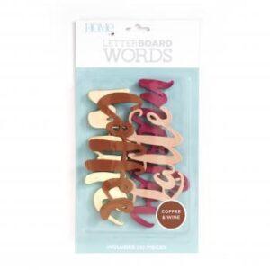 Word Packs - DCWV - Letter Board - Coffee/Wine (4 Piece) - P