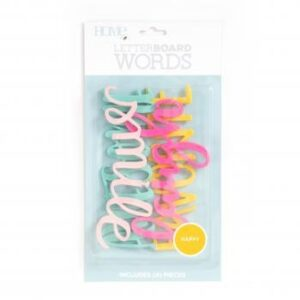 Word Packs - DCWV - Letter Board - Happy (4 Piece) - P