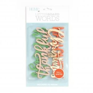Word Packs - DCWV - Letter Board - Winter/Fall (4 Piece) - P