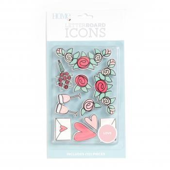 Icon Packs - DCWV - Letter Board - Love (10 Piece) - P