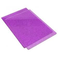 Accessory - Cutting Pads, Standard, 1 Pair (Purple w/Silver Glitter) - P