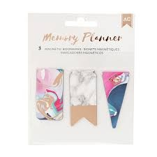 Embellishments Marble Crush Memory Planner - Magnet Bookmarks - (3 Piece) - P