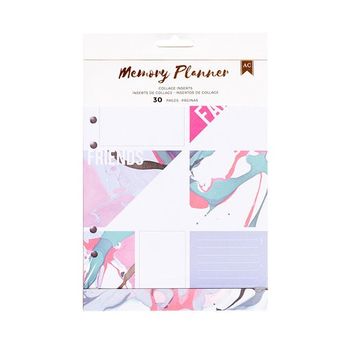 Planner Inserts Marble Crush Memory Planner - Event Inserts - Collage - (32 Piece) - P