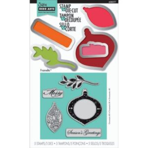 Framelits Die Set 5PK w/Stamps - Ornaments 3 by Hero Arts - P