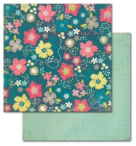 Papel para scrapbooking My Mind`s Eye Pretty Blossom - P